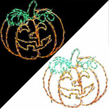 Haunted Hill Farm Happy Jack-O-Lantern Indoor/Outdoor LED Lights