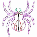Haunted Hill Farm Creepy Crawling Spider Halloween Giant Outdoor LED Lights 48 x 40 inches