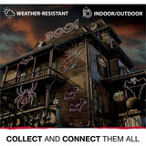 Haunted Hill Farm BOO Giant Outdoor LED Lights 63 x 16 inches