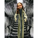 Haunted Hill Farm Life-Size Poseable Animatronic Zombie with Flashing Red Eyes
