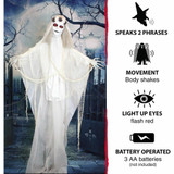 Haunted Hill Farm Life-Size Poseable Animatronic Bride with Red Flashing Eyes