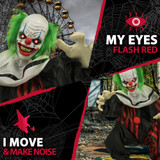 Haunted Hill Farm  Animatronic Talking Clown with Flashing Red Eyes Slice