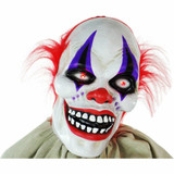 Haunted Hill Farm Life-Size Poseable Animatronic Clown with Flashing Red Eyes Frans