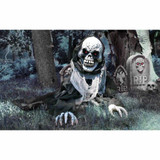 Haunted Hill Farm Animatronic Talking Reaper with Light-up Red Eyes, 27 inches Cyprus