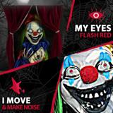 Haunted Hill Farm Animatronic Talking Clown with Flashing Red Eyes Joker