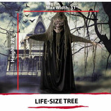 Haunted Hill Farm Life-Size Animated Haunted Talking Tree Prop with Moving Mouth