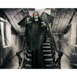Haunted Hill Farm Life-Size Poseable Animatronic Reaper with Flashing Red Eyes Deceiver