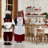 Fraser Hill Farm 58 Life-Size African American Dancing Mrs Claus with Apron