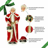 Fraser Hill Farm 58 Life-Size Dancing Mrs Claus with Hooded Cloak and Basket