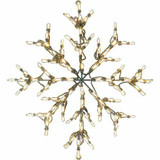 Fraser Hill Farm 30 Snowflake in Warm White Christmas Outdoor LED Lights