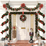 Fraser Hill Farm 3-Ft Resin Nutcracker Greeter with LED Lights, Indoor/Covered Outdoor