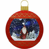 Fraser Hill Farm Let It Snow Series 24 Christmas Ornament Shadowbox in Red with Santa Scene, Cascading Snow, and Holiday Music