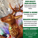 Fraser Hill Farm 5-Ft Life-Size Tall Standing Reindeer with Metallic Finish with Long-Lasting LED Lights, Indoor or Outdoor
