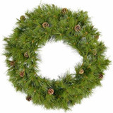 Fraser Hill Farm 60 Eastern Pine Green Christmas Decor Wreath