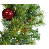 Fraser Hill Farm Set of 3 Holly Berry 20 Wreaths with Ornaments and 150 Battery-Operated LED Lights for Indoor and Outdoor Displays