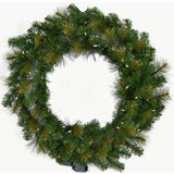 Fraser Hill Farm 60 Southern Peace Christmas Decor Wreath with Warm White LED Lights