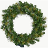 Fraser Hill Farm 60 Southern Peace Christmas Decor Wreath with Multi-Color LED Lights
