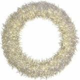Fraser Hill Farm 36 White Overlit Holiday Wreath with Ultra-Bright LED Cluster Lights and Special Lighting Effects