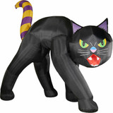 Haunted Hill Farm 20-Ft Halloween Inflatable Black Cat with Lights