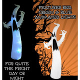 Haunted Hill Farm 12-Ft Halloween Inflatable Ghost with Color Changing Lights and Animation