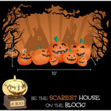 Haunted Hill Farm 10-Ft Halloween Inflatable Pumpkin Family with Lights