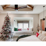 Fraser Hill Farm Snowy Pine Flocked Christmas Tree, Various Sizes and Lighting Options