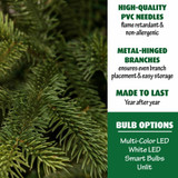 Fraser Hill Farm Foxtail Pine Christmas Tree, Various Sizing and Lighting Options