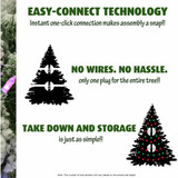 Fraser Hill Farm Canyon Pine Upside Down Christmas Tree with Clear Smart Lights 5 Feet Tall