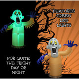 Haunted Hill Farm 10-Ft Halloween Inflatable Shaking Ghost with Flashing Lights