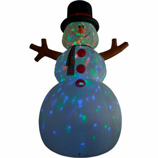Fraser Hill Farm 20-Ft Tall Jolly Snowman, Blow Up Inflatable with RGB Lights and Storage Bag