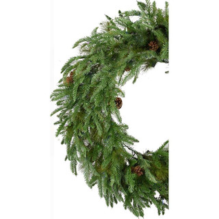 Fraser Hill Farm Norway Pine 48 Artificial Holiday Wreath, Various Lighting Options