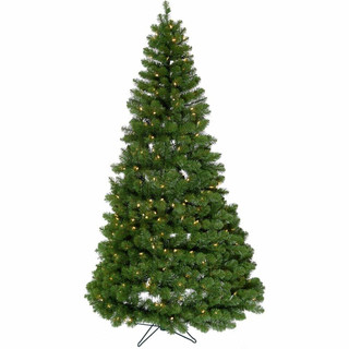 Fraser Hill Farm 6-Ft Peppermint Pine Spiral Pop-Up Green Christmas Tree with Warm White Lighting