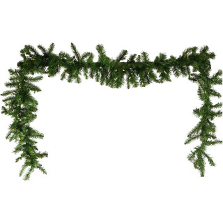 Fraser Hill Farm 9-Ft Colorado Fir Artificial Holiday Garland with Battery-Operated Clear LED String Lighting