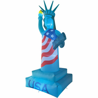 Fraser Hill Farm 12-Ft Tall Statue of Liberty, Outdoor Blow Up Inflatable with Lights