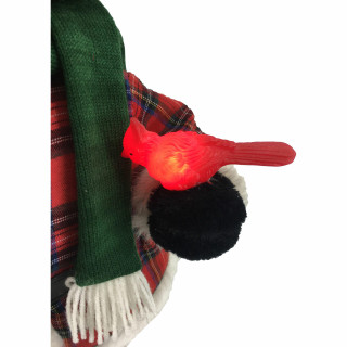 Fraser Hill Farm 24-In Black Bear Figurine with Lighted Bird, Gift, Animation, and Music 8 Songs - Christmas Holiday Decoration