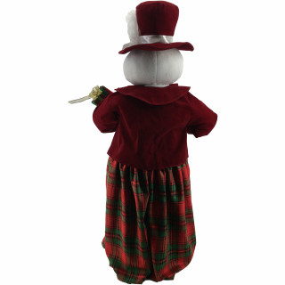 Fraser Hill Farm 36-In Dancing Mrs Snowman with Wrapped Gift Box and Music 1 Song - Animated Christmas Holiday Decorations