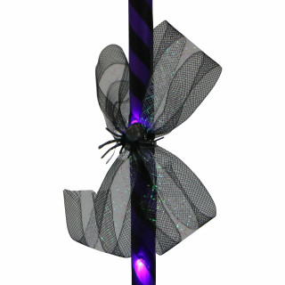 Haunted Hill Farm Haunted Hill Farm 3-Ft Purple Witchs Broomstick with Purple Lights, Battery Operated, Indoor/Covered Outdoor Halloween Decorations, HHBROOM-1LS