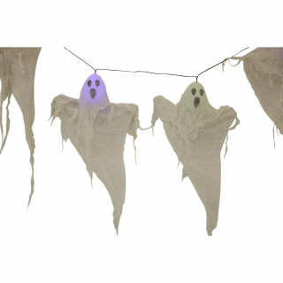 Haunted Hill Farm Haunted Hill Farm 6-ft Light Up Ghost Garland, Halloween Decoration, HHGARGHST-1S