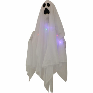 Haunted Hill Farm Haunted Hill Farm 1.6-ft Light-Up Ghost Set of 2, Color-Changing, Indoor/Covered Outdoor Halloween Decoration, Poseable, Battery-Operated, HHGHST-10HLS