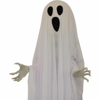 Haunted Hill Farm Haunted Hill Farm 5-ft Animatronic Hanging Ghost, Indoor/Outdoor Halloween Decoration, Red LED Lights, Poseable, Battery-Operated, Oracle, HHGHST-7HSA