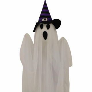 Haunted Hill Farm Haunted Hill Farm Set of 3 Hanging Ghosts, Indoor/Outdoor Halloween Decoration, HHGHST-8H