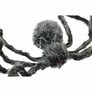 Haunted Hill Farm Haunted Hill Farm 6.7-ft Grey Spider, Indoor/Covered Outdoor Halloween Decoration, Poseable, Venom, HHSPD-10F