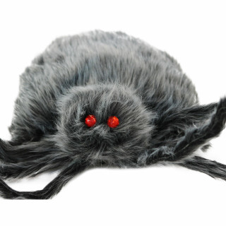 Haunted Hill Farm Haunted Hill Farm 4.3-ft Grey Spider, Indoor/Covered Outdoor Halloween Decoration, Poseable, Manon, HHSPD-11H