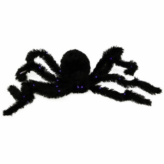 Haunted Hill Farm Haunted Hill Farm 2.25-ft Floating Spider, Indoor/Covered Outdoor Halloween Decoration, LED Purple Eyes, Battery-Operated, Ichabod, HHSPD-3HLSA