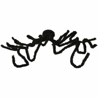 Haunted Hill Farm Haunted Hill Farm 6-ft Black Spider, Indoor/Covered Outdoor Halloween Decoration, Poseable, Lucifer, HHSPD-9F