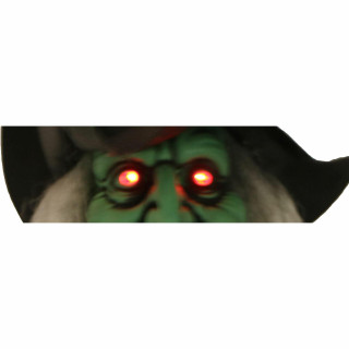 Haunted Hill Farm Haunted Hill Farm 5.6-ft Witch, Indoor/Covered Outdoor Halloween Decoration, LED Red Eyes, Poseable, Battery-Operated, Whining Wench, HHWITCH-29HLSA