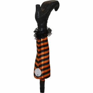 Haunted Hill Farm Haunted Hill Farm Set of Three 1.6-ft Light-Up Staked Witch Legs, Indoor/Covered Outdoor Halloween Decoration, LED, Battery-Operated, HHWTCLEG-1STKL