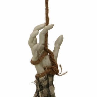 Haunted Hill Farm Haunted Hill Farm 3.9-ft Hanging Zombie, Indoor/Covered Outdoor Halloween Decoration, LED Red Eyes, Poseable, Battery-Operated, HHZOMB-1HLSA