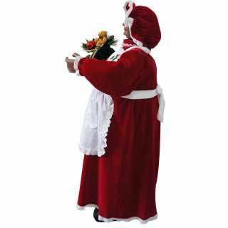 Fraser Hill Farm Fraser Hill Farm 3-Ft Music and Motion African American Mrs Claus with Apron - Animated Indoor Holiday Home Decor, FMC036-1RD1-AA