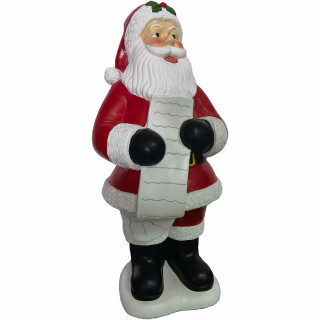 Christmas Time Christmas Time 3-Ft Traditional Santa Claus Figurine Holding a List, Resin Indoor or Covered Outdoor Holiday Decor, CT-RS036SC0-RD
